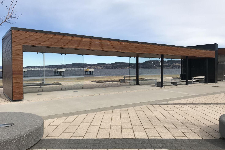 Construction en bois : Abri Village portuaire (Saguenay) - Alliance Forêt Boréale