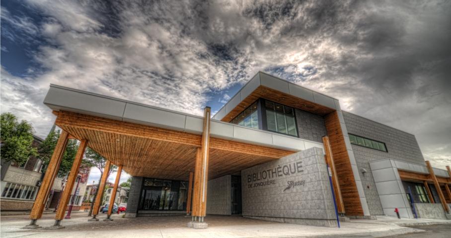 Construction en bois : Bibliothèque Jonquière (Saguenay) - Alliance Forêt Boréale
