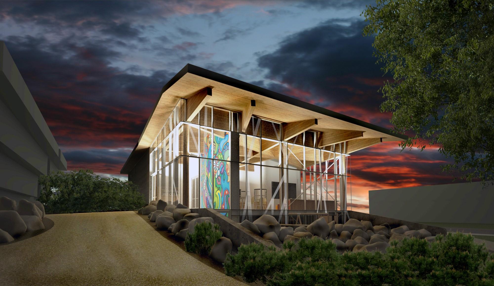 Construction en bois : Pavillon culture autochtone UQAC (Saguenay) - Alliance Forêt Boréale